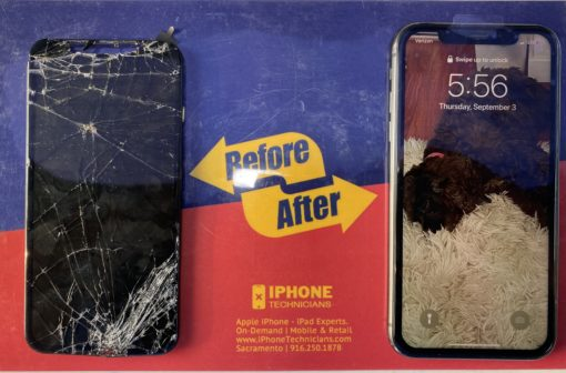 Before After Screen Replacement iPhone Repair